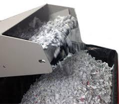 destrucción de papel docum